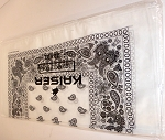 Paisley Bandana 100% Cotton Wholesale  (Dozen Packed) -  White