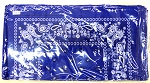 Paisley Bandana 100% Cotton Wholesale (Dozen Packed) - Royal Blue,