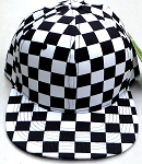 Wholesale Checkered Art Design Snapback Hat -  Checkered BK