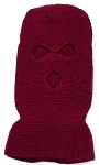 Wholesale Balaclava 3-Hole  Halloween Ski Masks (Full Face Masks)    Burgundy