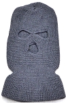 Wholesale Balaclava 3-Hole  Halloween Ski Masks (Full Face Masks)    Dark Grey (Brown grey)