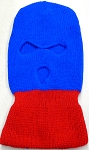 Wholesale Balaclava 3-Hole  Halloween Ski Masks (Full Face Masks)   Royal Blue Red