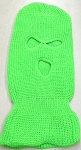 Wholesale Balaclava 3-Hole  Halloween Ski Masks (Full Face Masks)   Neon Green