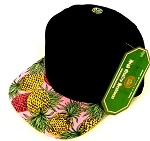 INFANT Baby Blank Snapback Hats & Caps Wholesale Pineapple - Bk Pink