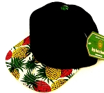 INFANT Baby Blank Snapback Hats & Caps Wholesale Pineapple - Bk White