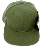 KIDS Junior Wholesale Blank Snapback Hats  - Olive