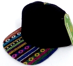 INFANT Baby Blank Snapback Hats & Caps Wholesale - Black Aztec STR-02