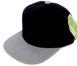 INFANT Baby Blank Snapback Hats & Caps Wholesale - Black Heather Grey