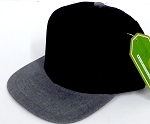 INFANT Baby Blank Snapback Hats & Caps Wholesale - Black Charcoal Grey