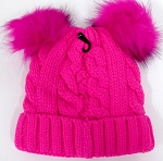 Infant/Baby Ears Beanie kb-8001 -Hot Pink
