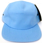 Blank 5-Panel Camp Hats Caps Wholesale - Sky Blue