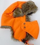 Trooper Bomber Faux Fur Winter Hats with Mask Wholesale - Solid Neon Orange