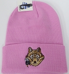 Wholesale Native Pride Long Cuff Beanie - Wolf  Pink