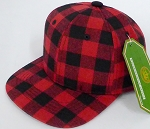 INFANT Snapback Hats Wholesale Red Plaid - Red solid