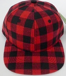 KIDS Jr. Snapback Hats Wholesale Red Plaid  Red Solid