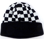 Kids Wholesale winter knit Beanie  Bk checkered