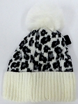 kIDS JR Wholesale Winter Fur knit pom beanie  WHITE