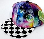INFANT Baby Blank Snapback Hats & Caps Wholesale - Galaxy 3 Checkered