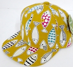 INFANT Baby Blank Snapback Hats & Caps Wholesale Fish - Solid    Gold