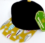 INFANT Baby Blank Snapback Hats & Caps Wholesale Fish - Solid  Black   Gold