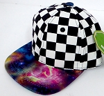 INFANT Baby Blank Snapback Hats & Caps Wholesale -  Checkered Galaxy  1