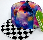 INFANT Baby Blank Snapback Hats & Caps Wholesale - Galaxy 1 Checkered