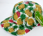 Blank 5 Panel Camp Hats/Caps Wholesale Pineapple  White
