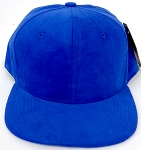 Wholesale Corduroy Blank Snapback Caps - Solid - Royal Blue