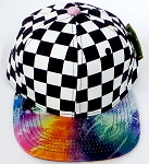 KIDS Jr. Snapback Hats Wholesale - Checkered Art Design   Galaxy 3