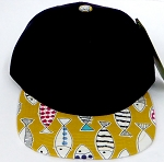 KIDS Jr. Snapback Hats Wholesale -  FISH  Black Gold
