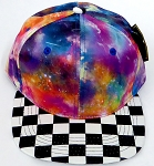 KIDS Jr. Snapback Hats Wholesale - Galaxy 1 Checkered Art Design
