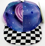 KIDS Jr. Snapback Hats Wholesale - Galaxy 2 Checkered Art Design