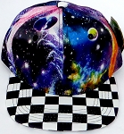KIDS Jr. Snapback Hats Wholesale - Galaxy 3 Checkered Art Design