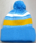 Beanies Wholesale | Pom Pom Beanies Trendy Winter Hats - White Sky Gold
