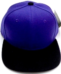 KIDS Jr. Plain Snapback Caps Wholesale -Purple   Black