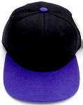 KIDS Jr. Plain Snapback Caps Wholesale - Black Purple