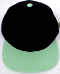 KIDS Junior Wholesale Blank Snapback Hats  - Black  Tiffany Blue