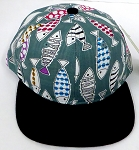 KIDS Jr. Snapback Hats Wholesale -  FISH Black 01