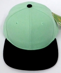 KIDS Junior Wholesale Blank Snapback Hats  -   Tiffany Blue  Black
