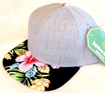 INFANT Baby Blank Flower Snapback Hats & Caps Wholesale - Denim Grey Black Hawaiian