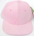 Wholesale Corduroy Blank Snapback Caps - Solid -  L Pink