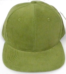 Wholesale Corduroy Blank Snapback Caps - Solid - Olive
