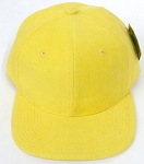 Wholesale Corduroy Blank Snapback Caps - Solid - Yellow