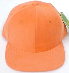 Wholesale Corduroy Blank Snapback Caps - Solid - Orange