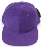 Wholesale Corduroy Blank Snapback Caps - Solid -  Purple