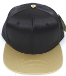 Crown Hat Original - Wholesale Faux Smooth Silk Blank   Black  Khaki Gold