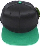 Crown Hat Original - Wholesale Faux Smooth Silk Blank   Black  K Green