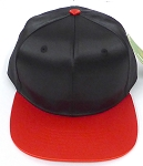Crown Hat Original - Wholesale Faux Smooth Silk Blank   Black Red