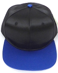 Crown Hat Original - Wholesale Faux Smooth Silk Blank   Black Royal Blue