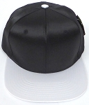 Crown Hat Original - Wholesale Faux Smooth Silk Blank  Black White